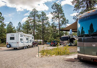 Sites will accommodate various sizes of RV's.